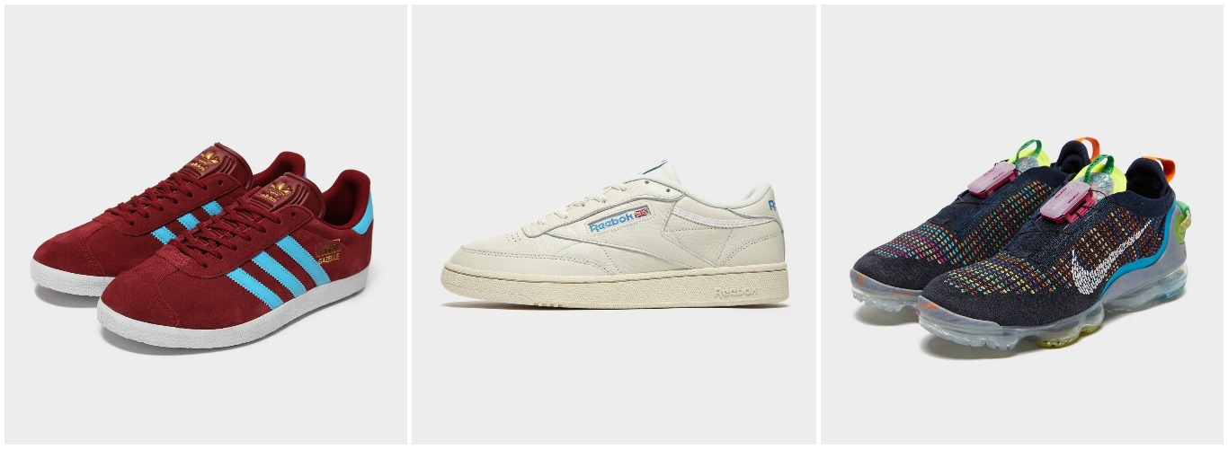pappa, present, sneakers herr