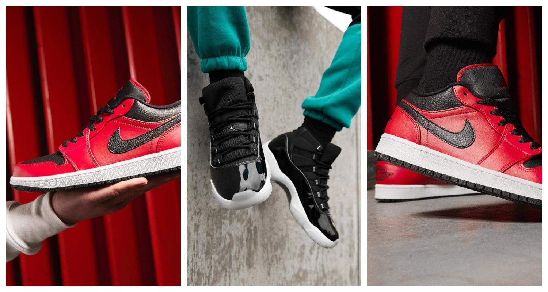 Jordan, Svarta sneakers, Röda sneakers