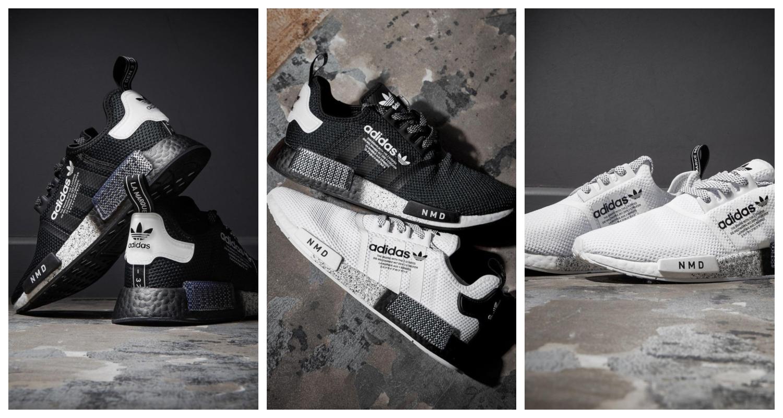 adidas Originals NMD, NMD, adias NMD, Vita sneakers, Svarta sneakers