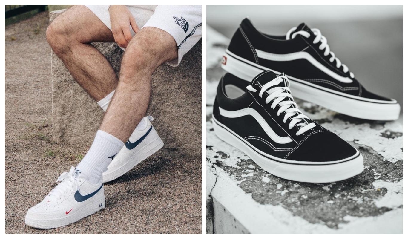 Nike Air Force 1, Vans Old Skool